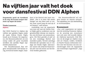 Na 15 stopt DDN Festival